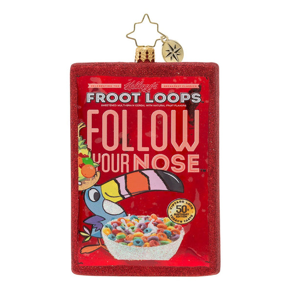 Christopher Radko OOT-Fray OOPS-Lay Vintage Froot Loops! Ornament