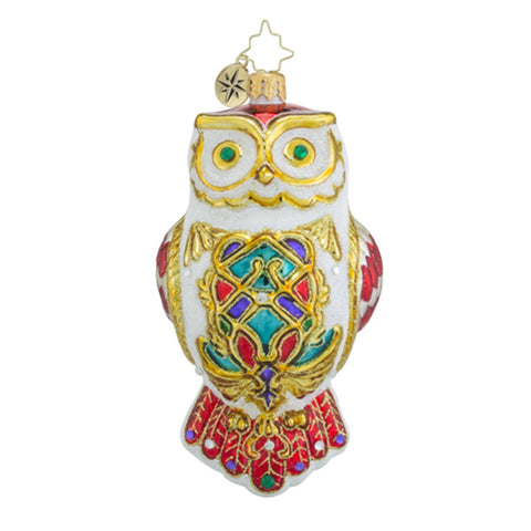 Radko Owl Fly Away Christmas Ornament New