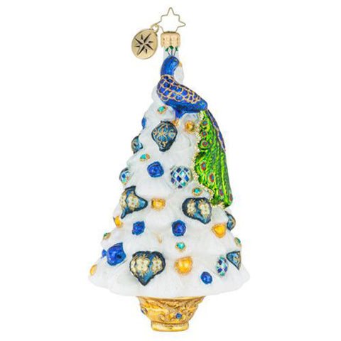 Christopher Radko Peacock Perfection! Tree ornament