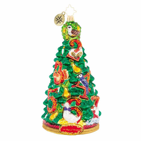 Christopher Radko Pear Tree Promises 12 Days of Christmas Ornament