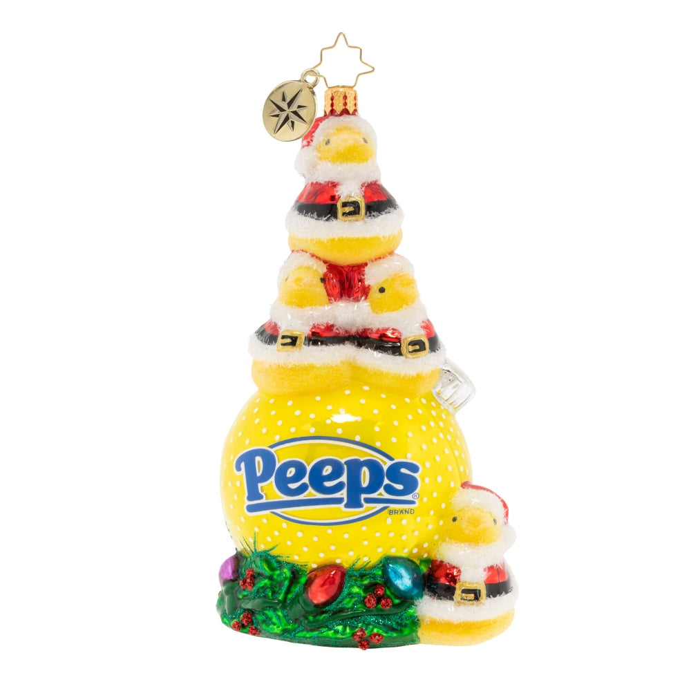 Christopher Radko Peeping Peeps Holiday Chicks Candy Ornament