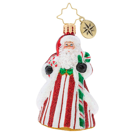 Christopher Radko Peppermint Candy Kringle Gem Santa Ornament