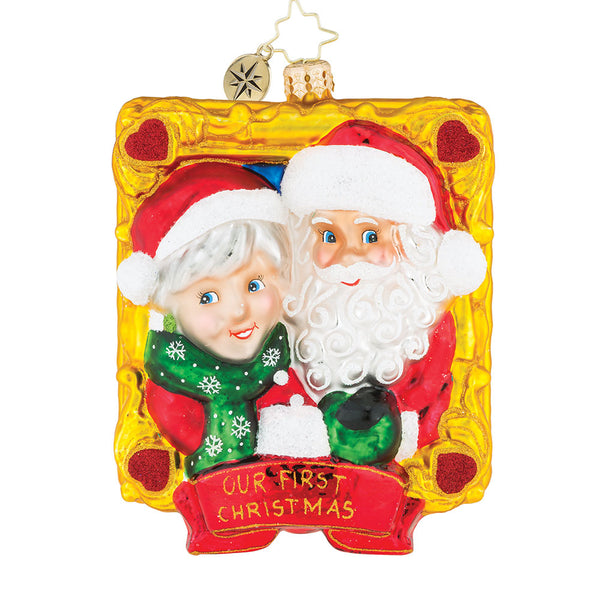 Christopher Radko Dated 2018 Picture Perfect Couple Ornament