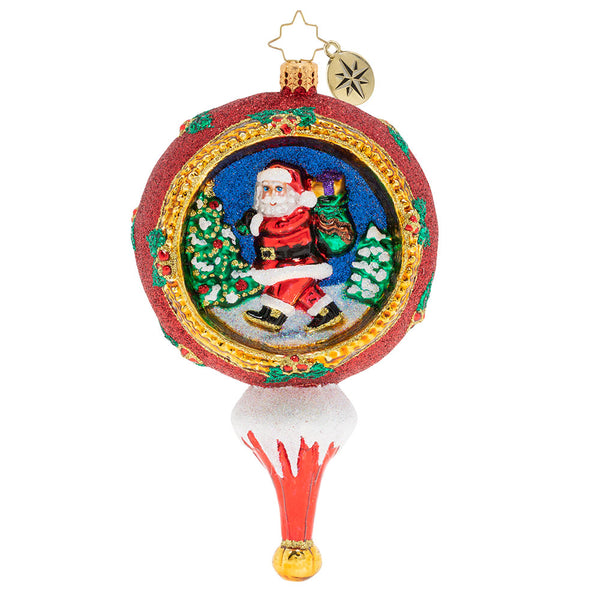 Christopher Radko Picturesque Santa Drop Ornament