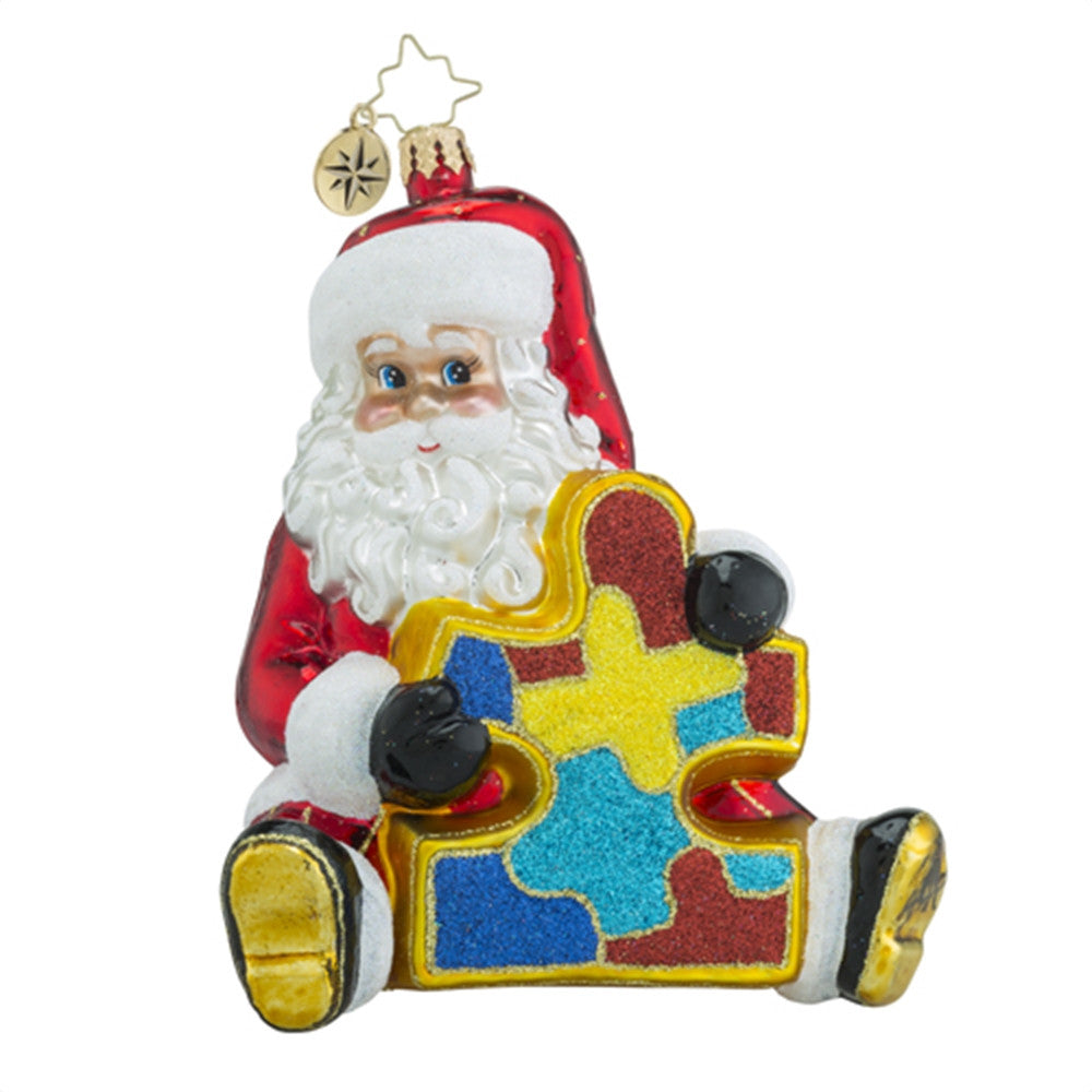 Christopher Radko Piece by Piece Santa Autism Ornament
