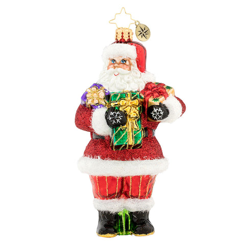 Christopher Radko Presents Galore! Santa Ornament