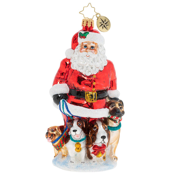 Christopher Radko Promenading Pups Santa Dogs Ornament