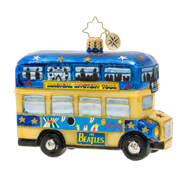 Christopher Radko The Beatles Psychedelic Magical Mystery Bus Ornament