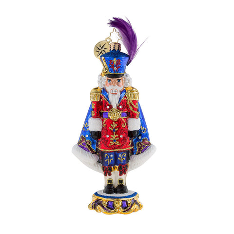 Christopher Radko Purple Majesty Nutcracker Limited ornament