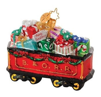 Radko B & O Railroad Train #2 GIFTFUL TENDER Ornament