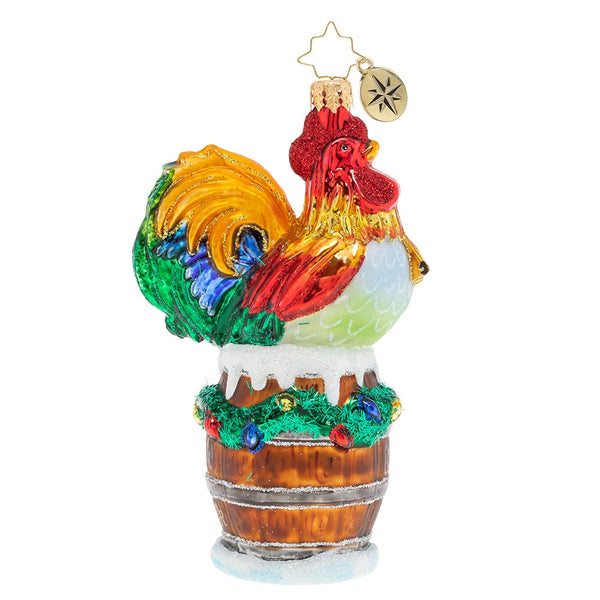 Christopher Radko Raise the Alarm Rooster Ornament