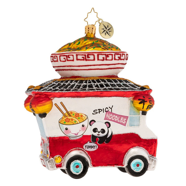 Christopher Radko Ramen Roadster Food Truck Ornament