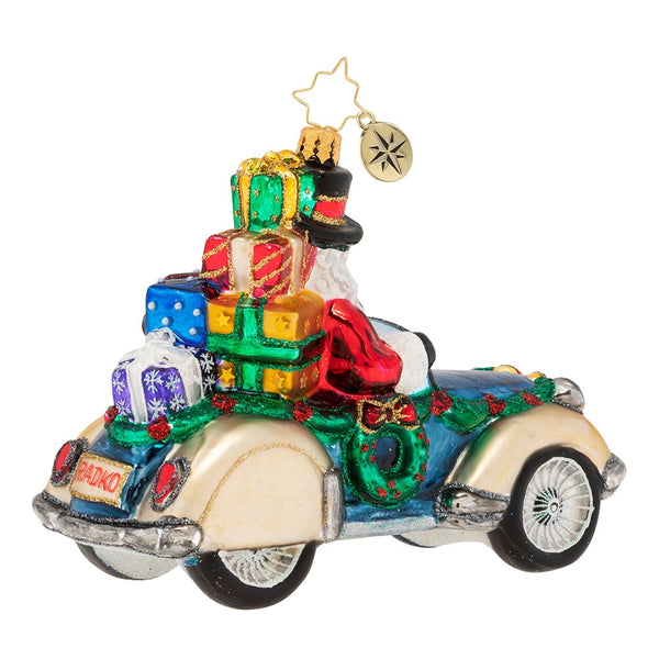 Christopher Radko Retro Roadster Car Ornament