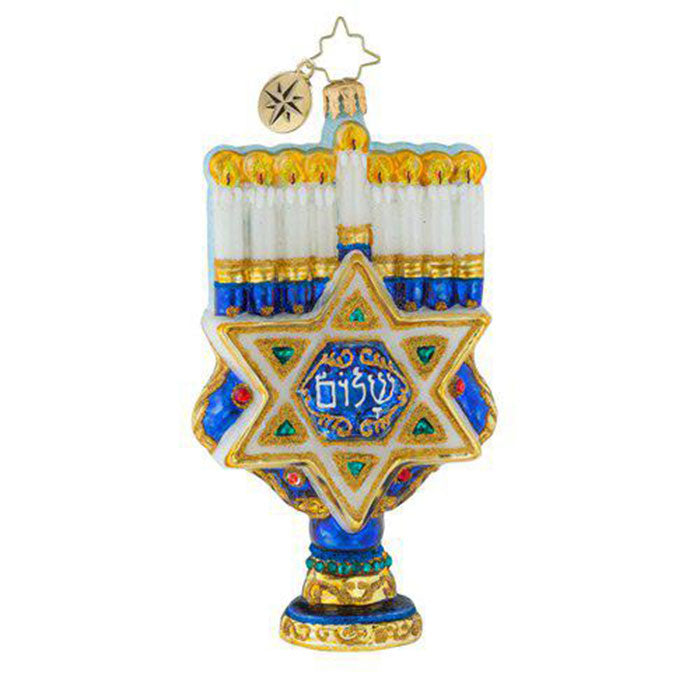 Christopher Radko Hanukkah Rich With Tradition Menorah Ornament