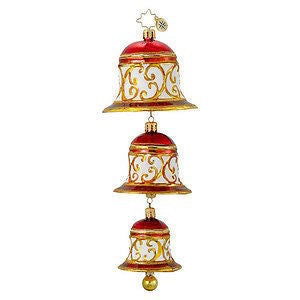 Christopher Radko Bell RING DING Bells Trio Christmas ornament NEW