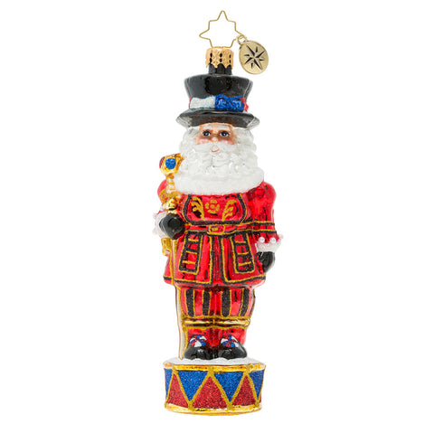 Christopher Radko Royal Beefeater Beef Eater Santa Guard London Ornament