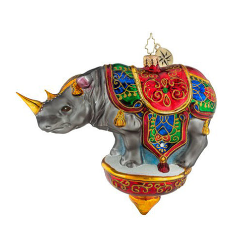 Christopher Radko Royal Rhino Ornament New 2018
