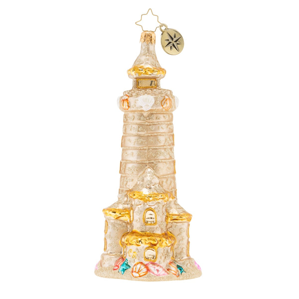 Christopher Radko CASTLES IN THE SAND Beach Lighthouse ornament
