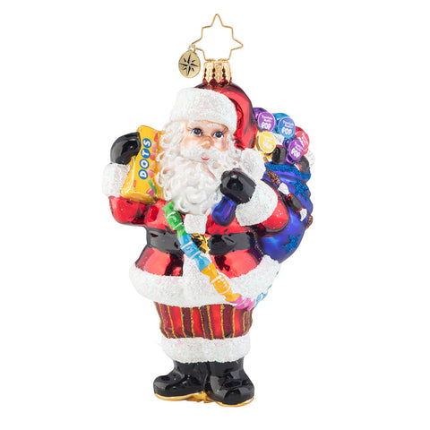 Christopher Radko Santa Has a Sweet Tooth Dots Candy Ornament