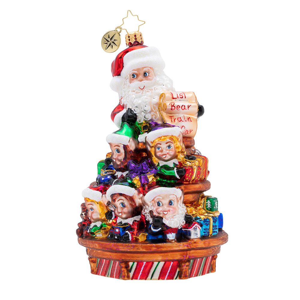 Christopher Radko Santa's Crew Kids Elves Ornament