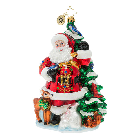 Christopher Radko Santa's Menagerie of Friends Tree Ornament