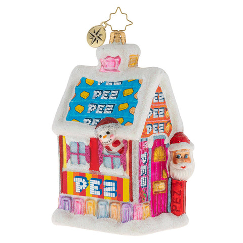 Christopher Radko Santa's PEZ Candy House Ornament