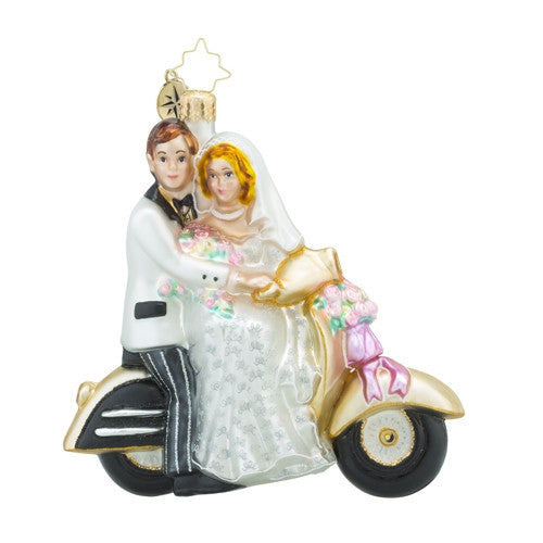 Christopher Radko A Wedding Scoot Along to Happiness Ornament