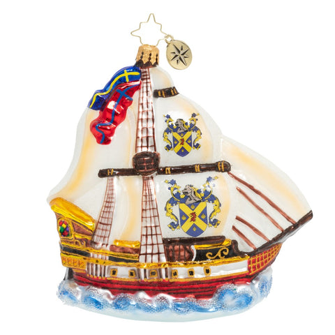 Christopher Radko On the High Seas Pirate Ship Boat Ornament