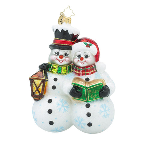 Radko Silent Night Sweethearts Couple in Love Ornament New 2016