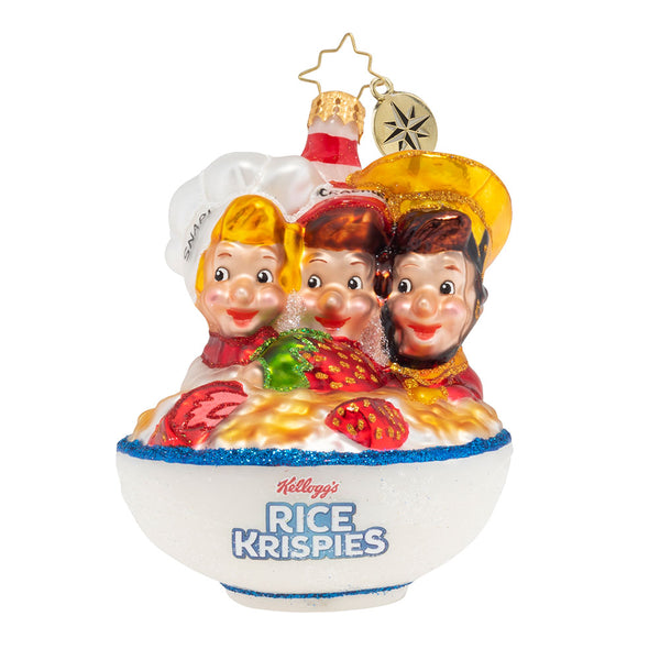 Christopher Radko Snap, Crackle and Pop! Rice Krispies Ornament