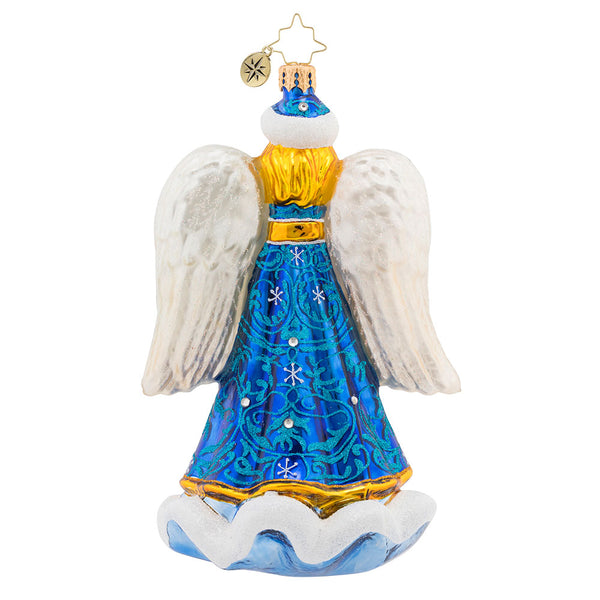 Christopher Radko Snow Angel Blue Ornament