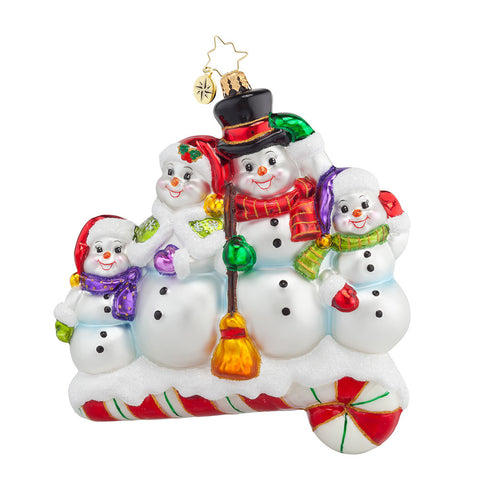 Radko Snow-one like Family Snowman Ornament NEW