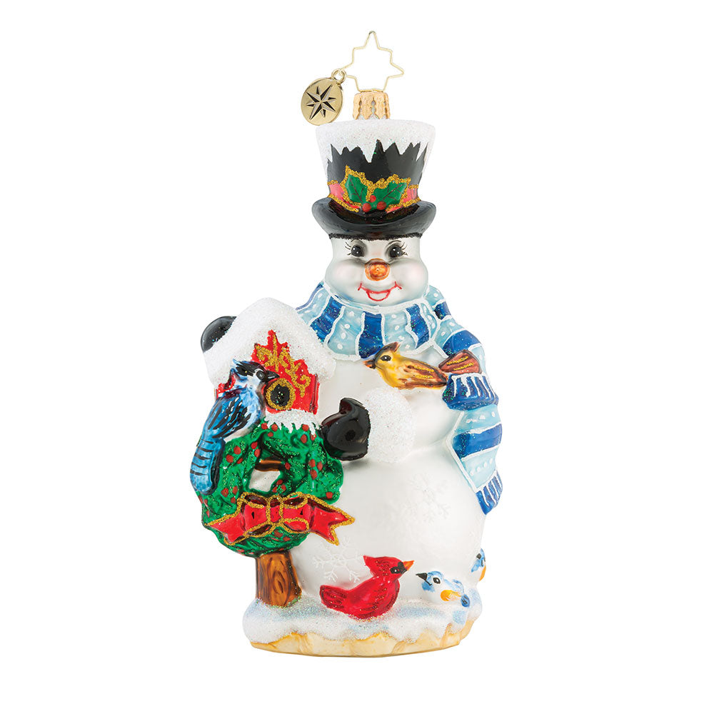 Christopher Radko Snowbird Sanctuary Snowman Ornament