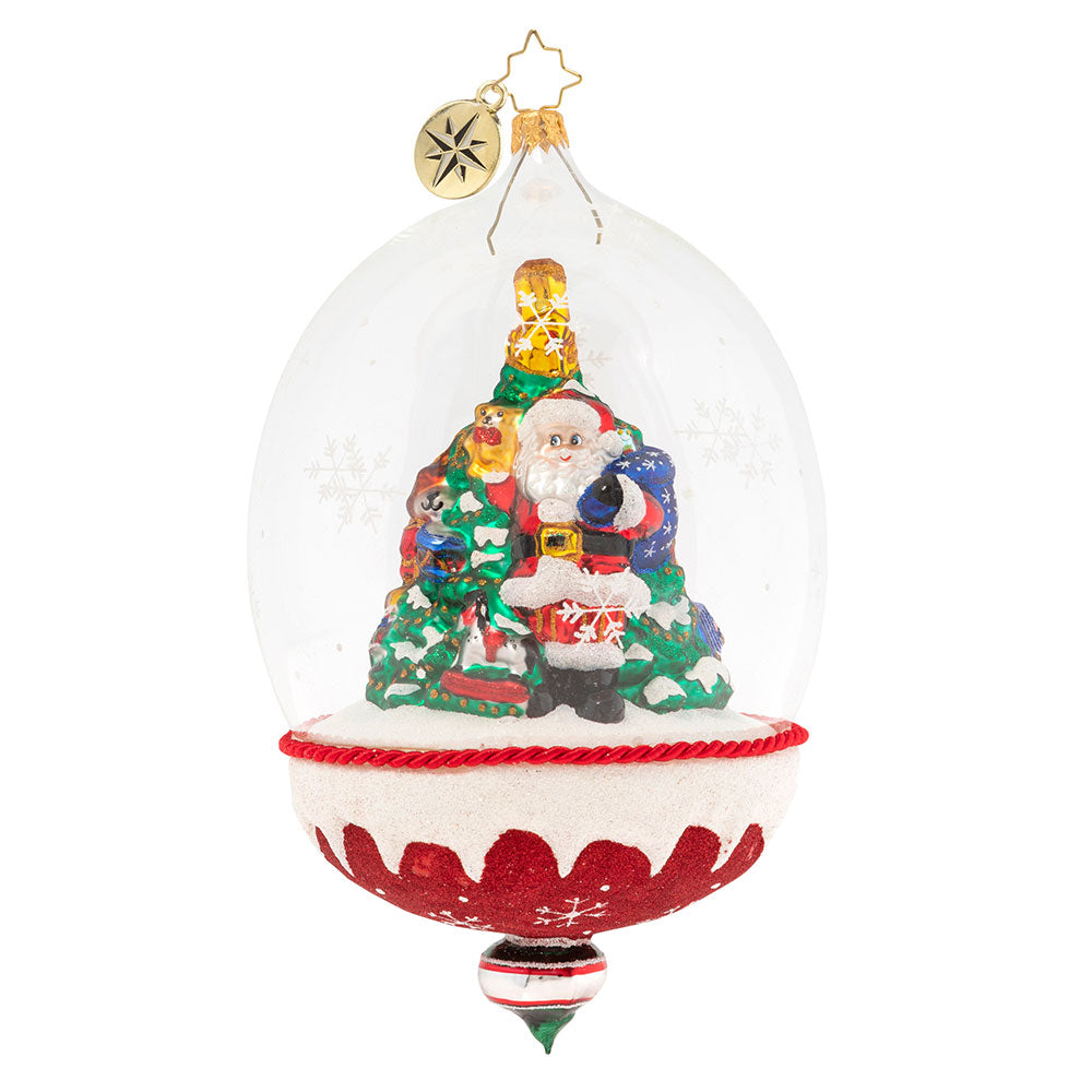Christopher Radko Snowdome of Toys Santa Ornament