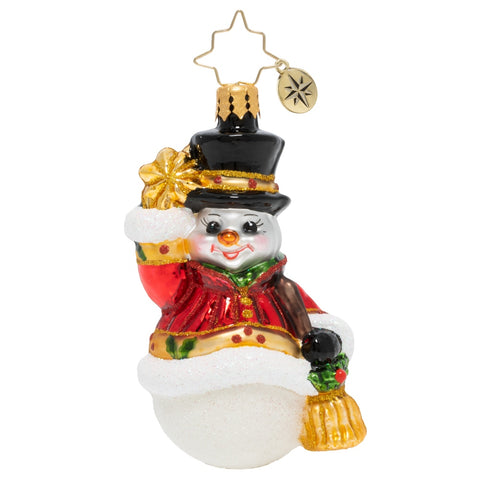 Christopher Radko Star Struck Snowman Little Gem Ornament