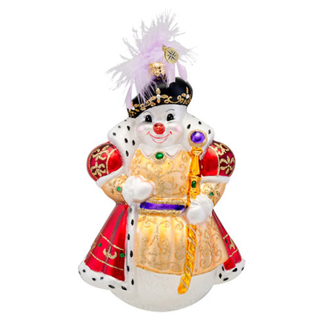 Radko SNOWY THE 8TH Eighth Queen snowman ornament NEW