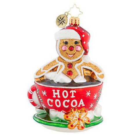 Christopher Radko Soaking Up The Holidays Hot Cocoa Ornament