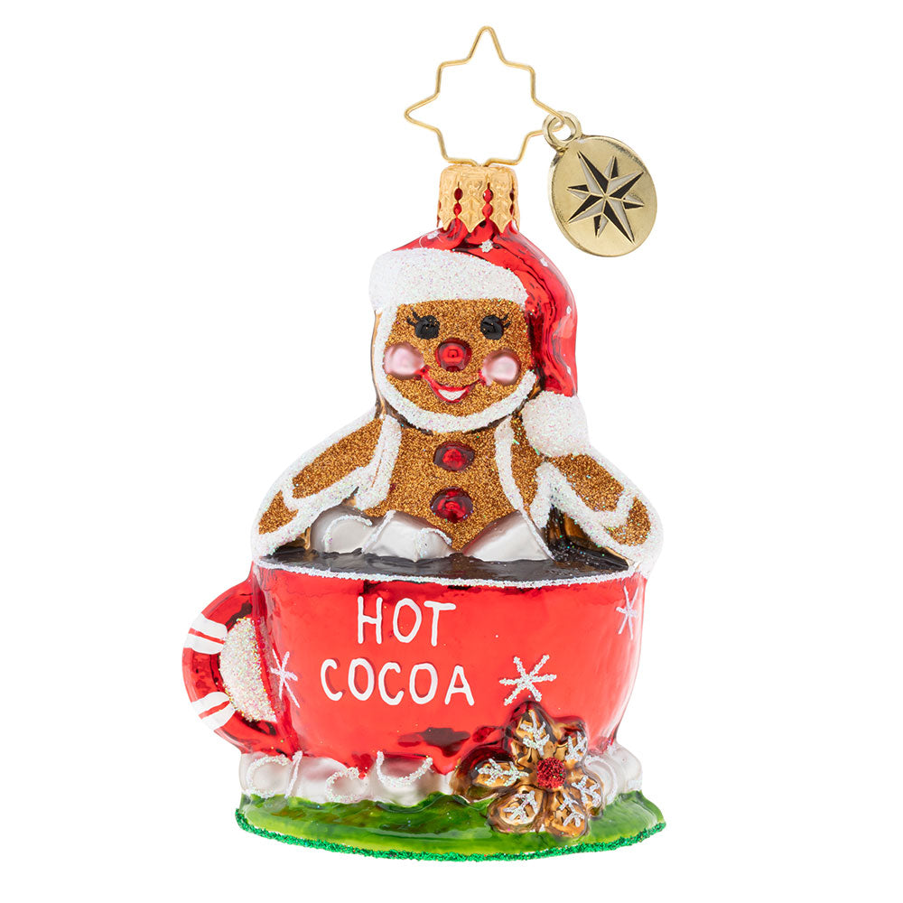 Christopher Radko Soaking Up The Holidays Gem Hot Chocolate Ornament
