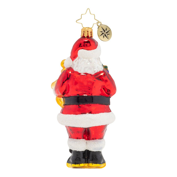 Christopher Radko Special Surprise Santa & Teddy Bear Ornament