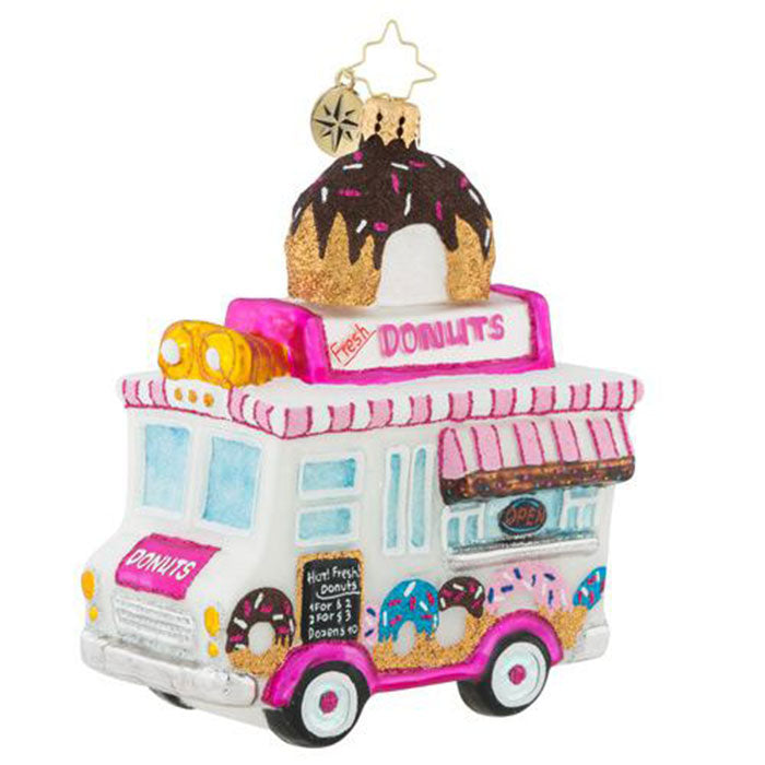 Christopher Radko Sprinkle Express Donut Truck Ornament