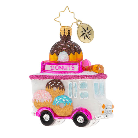 Christopher Radko Sprinkle Express Gem Donut Truck Ornament