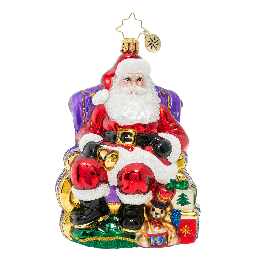 Christopher Radko St. Nick Christmas Visit Santa Ornament