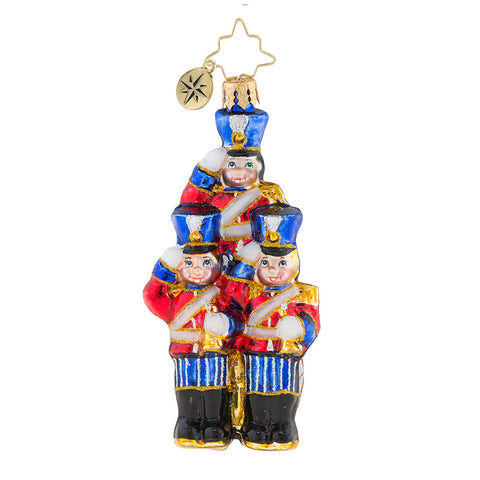 Christopher Radko Strike Up the Band Little Gem Toy Soldiers Ornament