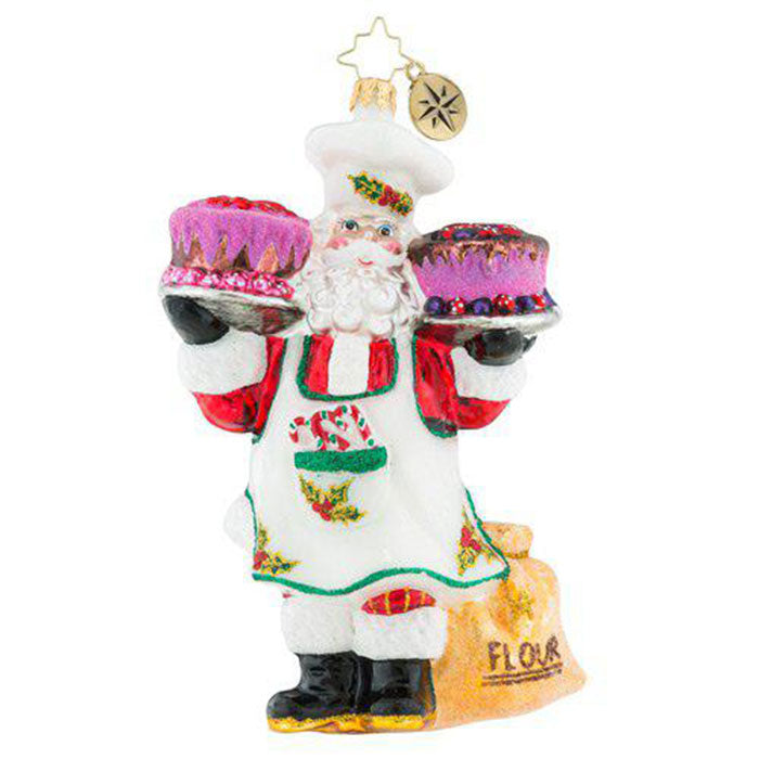 Christopher Radko Sugar And Spice Santa Baker Ornament
