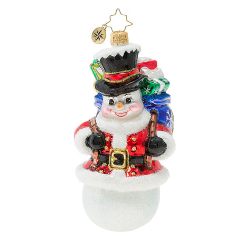 Christopher Radko Surprise Santa Snowman Ornament