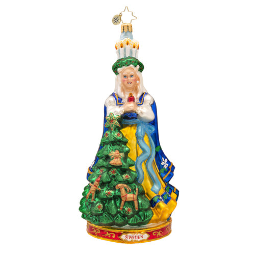 Christopher Radko Swedish Delight Dutch Girl Ornament