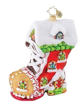 Radko SWEET TOOTH BOOT Candyland ornament  NEW