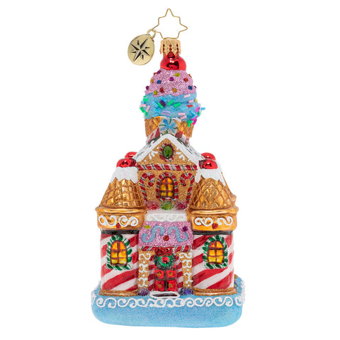 Christopher Radko Sweetest Castle Around Candy House Ornament