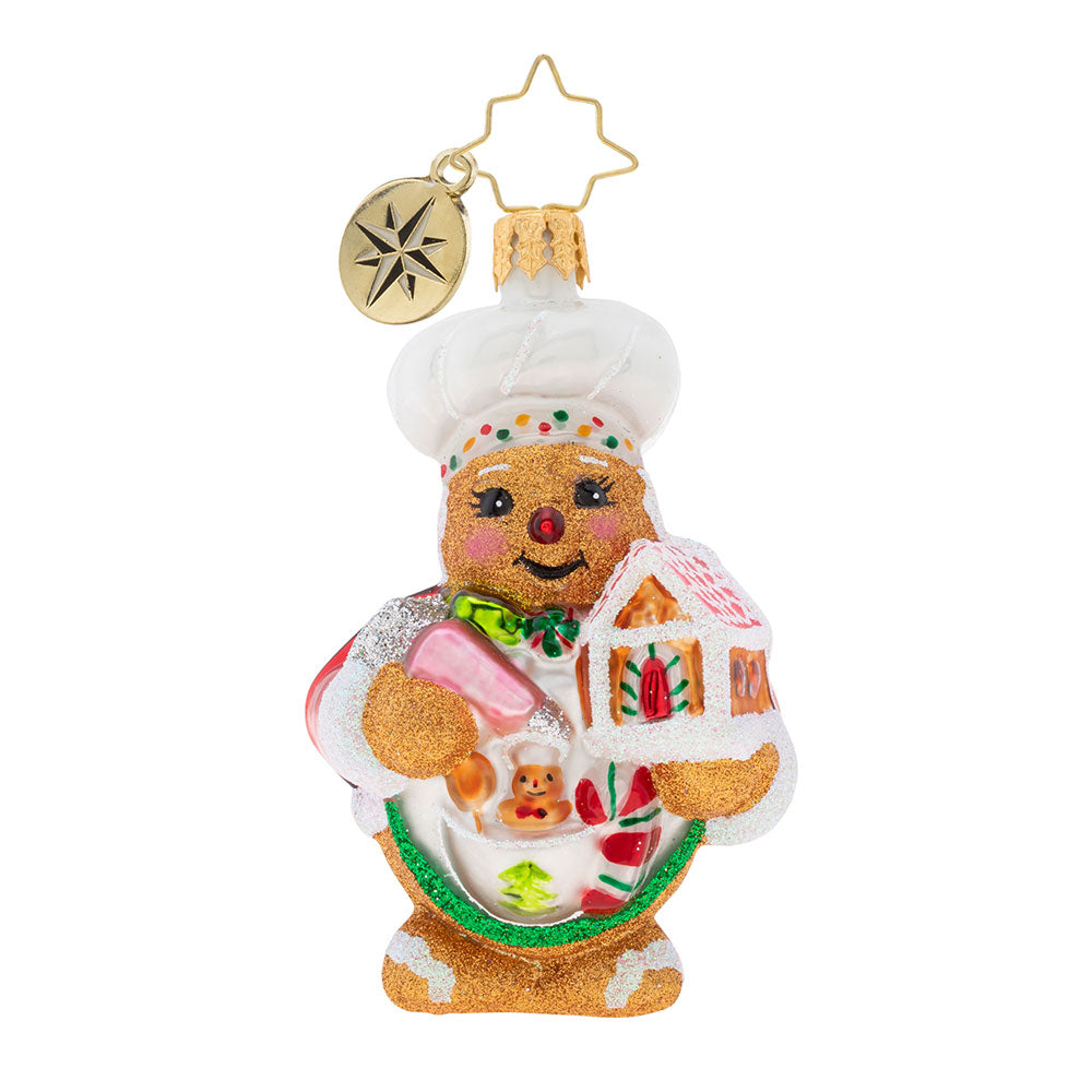 Christopher Radko Sweetest Chef Around Gem Ornament