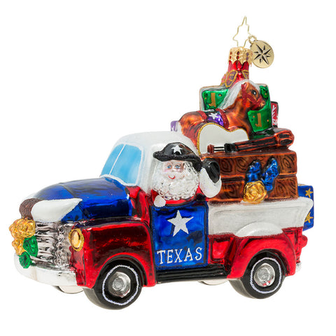 Christopher Radko Texas Treasures Truck Ornament